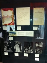 First runway for the Queen and letter from the Red Cross
